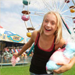young girl at a county fair