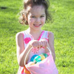 Girl holding an Easter basket