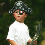 boy dressed as pirate